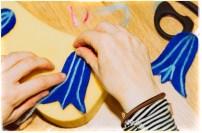 making felt Bluebells