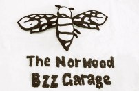 The Norwood Bzz Garage Logo in Felt & Embroidery