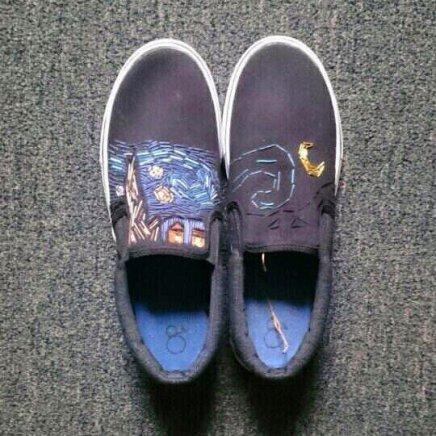 Starry night sneakers