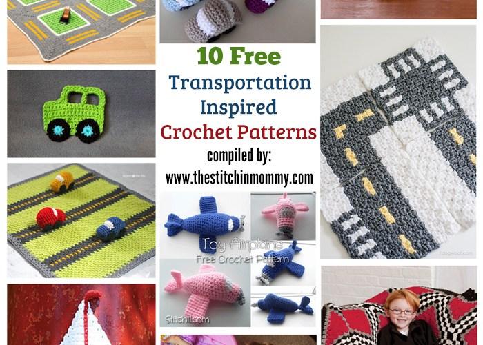 10 Free Transportation-Inspired Crochet Patterns