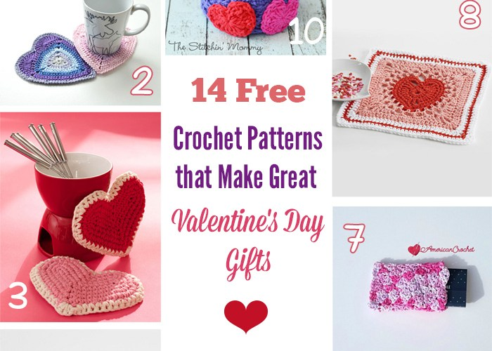 14 Free Crochet Patterns That Make Great Valentine's Day Gifts