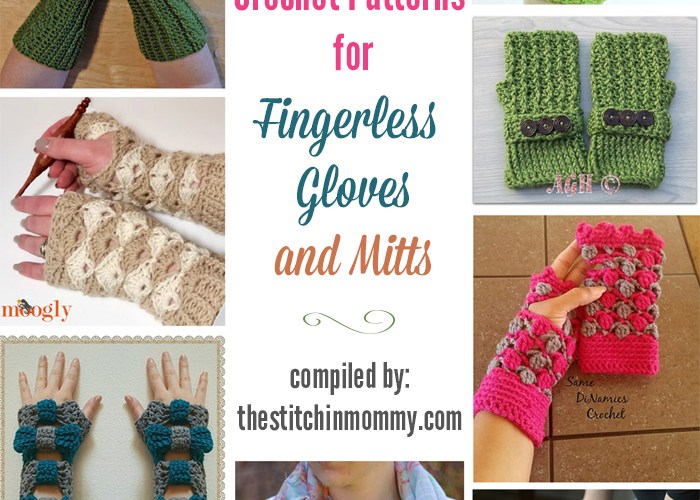 18 Free Crochet Patterns for Fingerless Gloves and Mitts