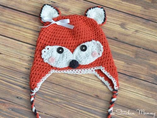 Crochet Fox Hat www.thestitchinmommy.com