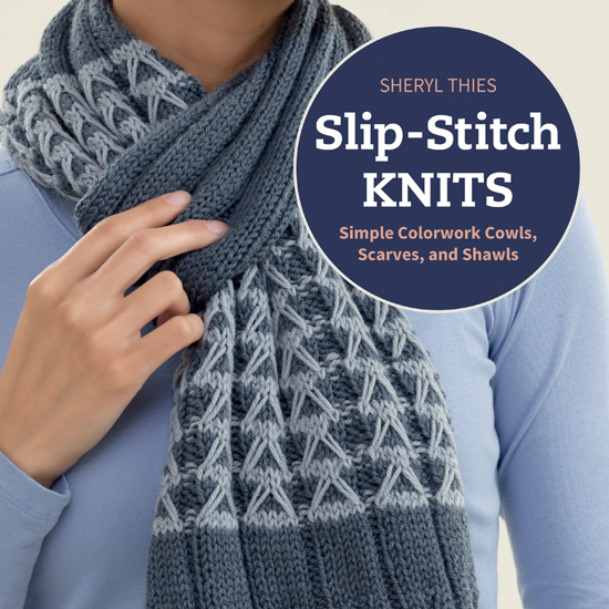 Slip-Stitch Knits - Simple Colorwork Cowls, Scarves, and Shawls by Sheryl Thies - Book Review | www.thestitchinmommy.com