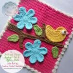 Bird and Flower Applique Set & Afghan Block – Free Pattern