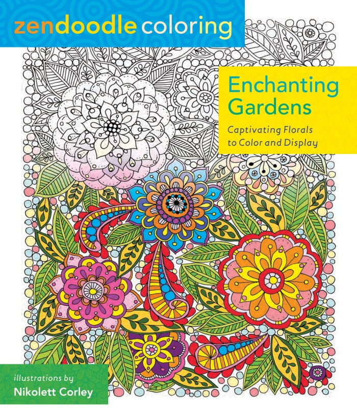 Zendoodle Coloring: Enchanting Gardens Book Review | www.thestitchinmommy.com