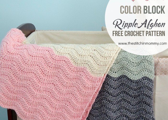 Vivi's Color Block Ripple Afghan – Free Crochet Pattern