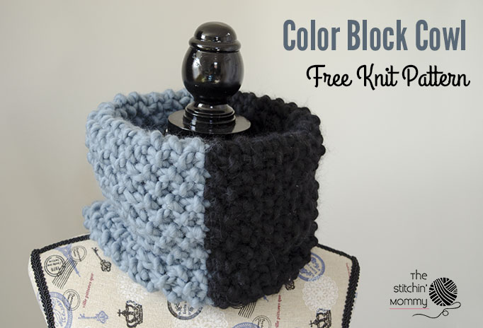Color Block Cowl - Free Knit Pattern   www.thestitchinmommy.com