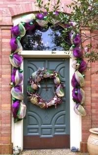 Do-It-Yourself Mardi Gras Door Decor