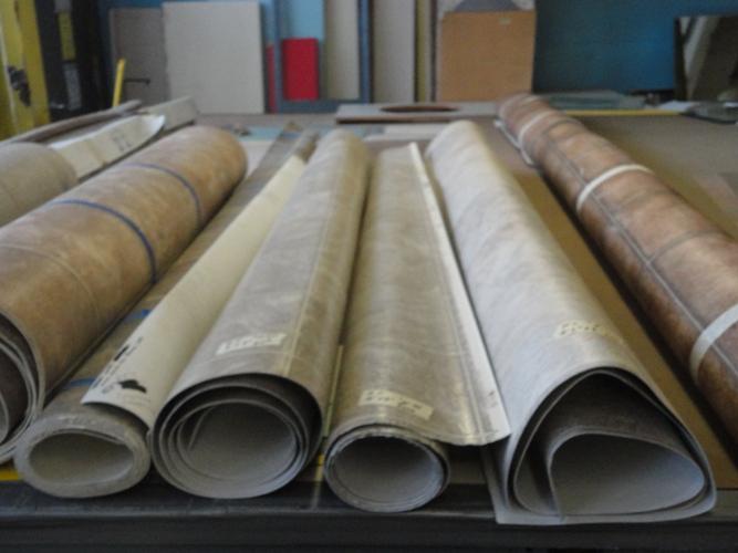 10 Rolls of Vinyl Flooring  125 sq yd  The Stock Pile