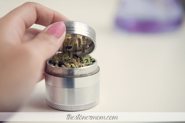 A grinder full of pot