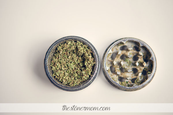 A grinder full of weed