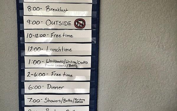 Building a Summer Schedule