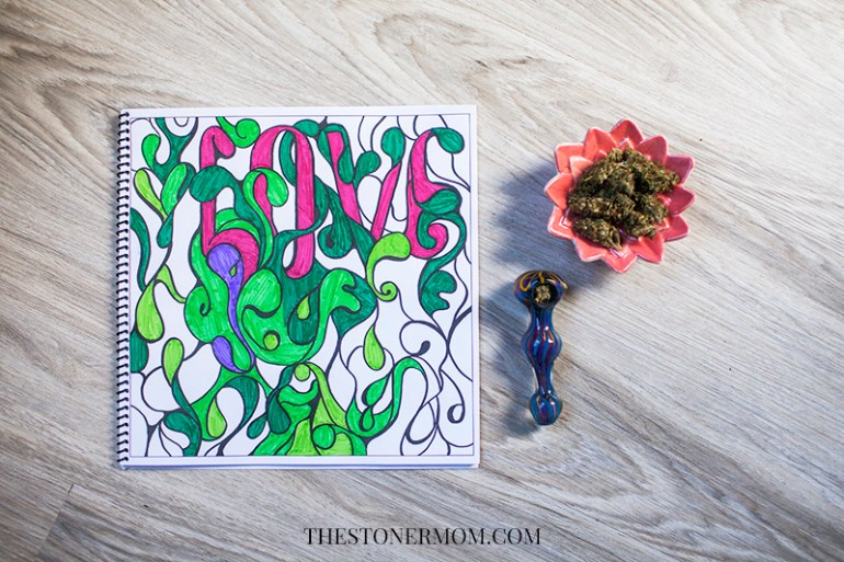 a page from the stoner's coloring book