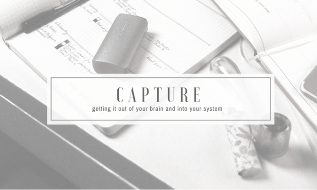 Capture   getting it out of your brain and into your system   GTD for Stoners