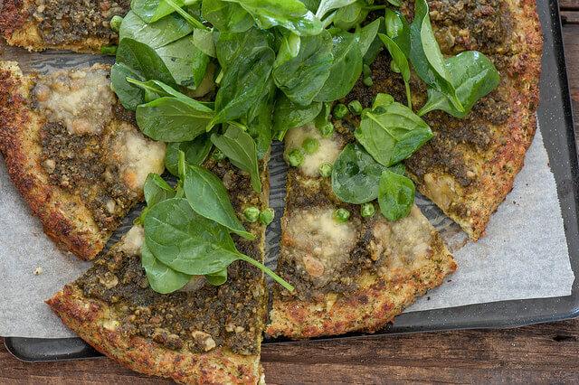 Pea & Pesto Pizza