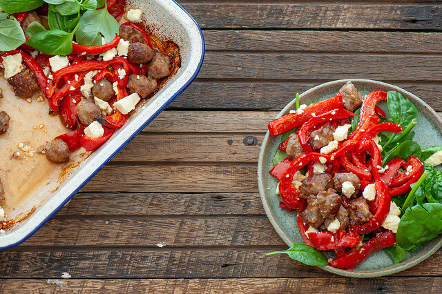 Sausages & Peppers1