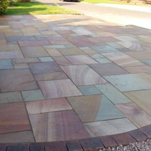 Rippon Indian sandstone patio pavers