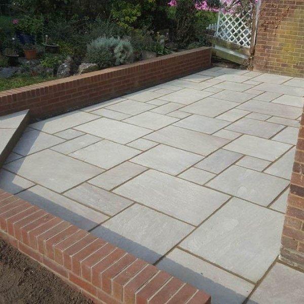 Kandla Grey Indian Sandstone patio pavers