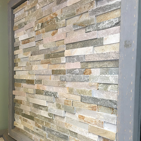 Oyster Maxi Stepped 3D Slate Cladding Panel