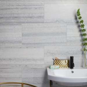 Baobab Honed Limestone Silver Blue Bathroom Wall Tiles