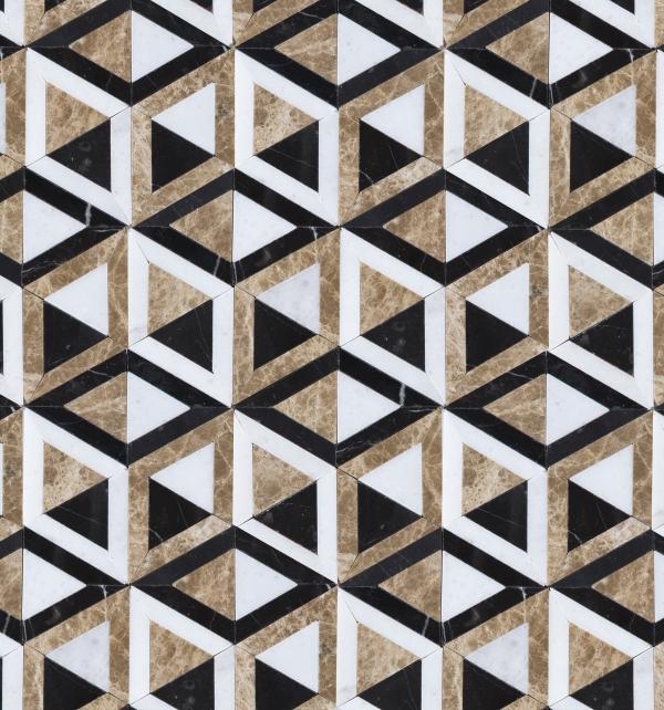 London Marble Mosaic Close Up