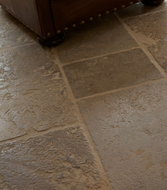 Medieval Bourgogne Limestone Weathered Finish Close Up