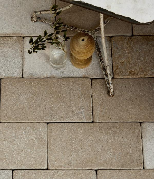 Neranjo Limestone Cobble Tumbled & Etched Finish birds eye view