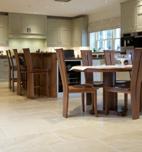 Neranjo Limestone Distressed Finish Kitchen Diner Floor