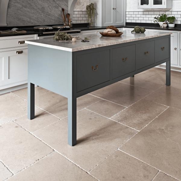 Neranjo Seasoned Limestone Open Plan Kitchen