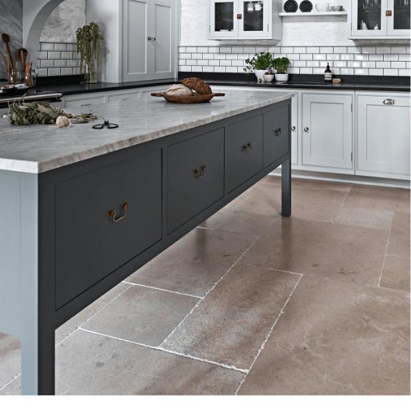 Neranjo Seasoned Limestone in a stylish kitchen