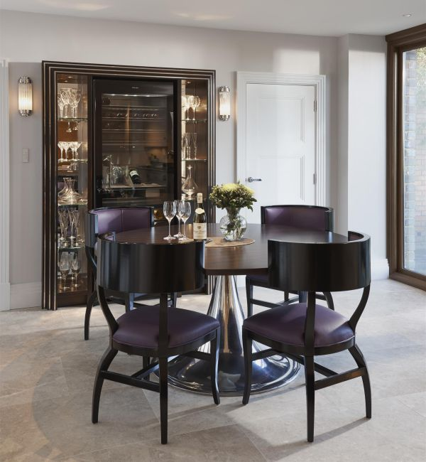 Piccadilly Honed Limestone in an exquisite dining room