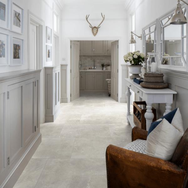 Shalstone Porcelain Chiaro Tiles Down The Hallway