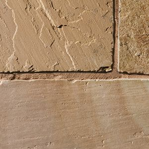 Indian natural riven sandstone patio slabs