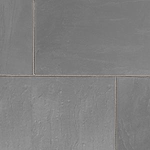 Grey natural slate paving