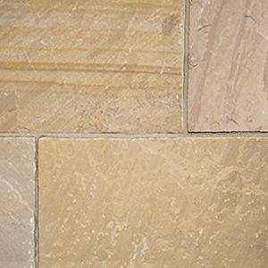 Camel Dust Indian natural riven sandstone patio slabs