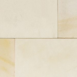 Ivory coloured natural sandstone patio slabs