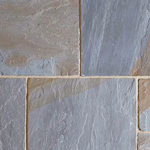 York Mix Indian natural riven sandstone patio slabs
