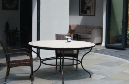 york mix natural sandstone patio slabs