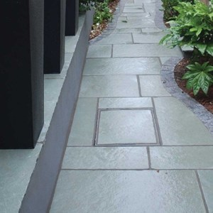 Kota Blue limestone patio pavers