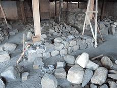 1st lift begun dry rock wall test