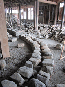 Curve foundation stones