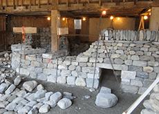 Setting through stones