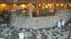 Level 3 DSWA dry stone wall part a test in progress