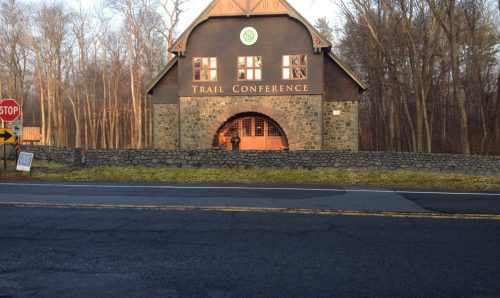 Photo simulation of dry stone wall to be built during the workshop at the NY - NJ Trail Conference