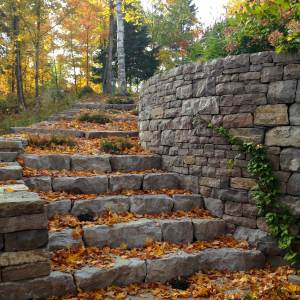 Dry stone stairs built by Jo Hodgson