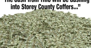 Cash will gush into Storey County Coffers