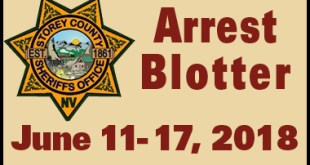 Storey County Arrest Blotter - June 11 - 17