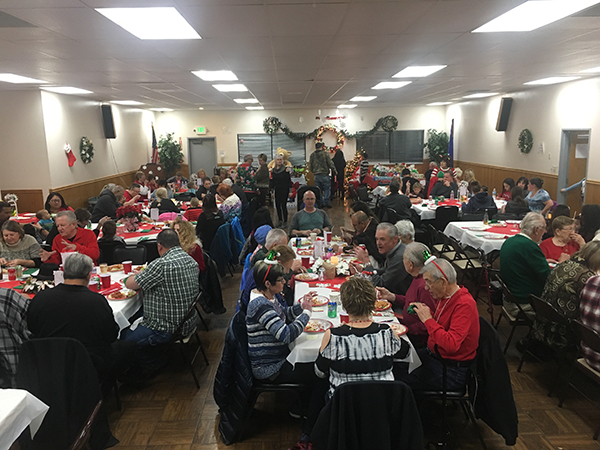 Festive Revelers Feast With Christmas Cheer