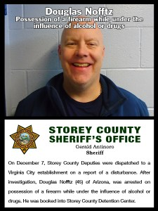 Storey County Sheriff's Office Arrest Log December 3rd - 9th